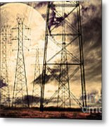 Power Grid Metal Print by Wingsdomain Art and Photography