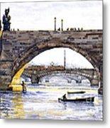 Prague Bridges Metal Print by Yuriy  Shevchuk