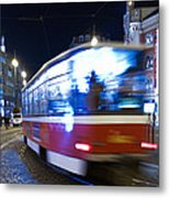 Prague Tram Metal Print by Stelios Kleanthous