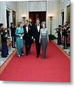 President And Nancy Reagan Walking Metal Print by Everett
