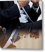 President Barack Obama Gestures Metal Print by Everett