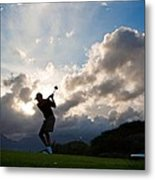 President Barack Obama Plays Golf Metal Print by Everett