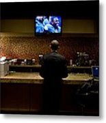 President Barack Obama Watches Metal Print by Everett