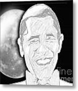 President  Barrack Obama Metal Print by Belinda Threeths