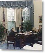 President George Bush Meets With Keys Metal Print by Everett