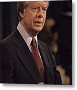 President Jimmy Carter Speaking Metal Print by Everett