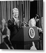President Jimmy Carter Taking Metal Print by Everett