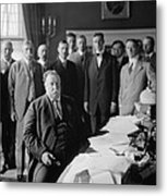 President William H. Taft At His Desk Metal Print by Everett