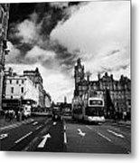 Princes Street Edinburgh Scotland Metal Print by Joe Fox