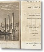 Principles Of Geology (1830) Metal Print by King's College London
