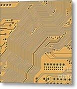 Printed Circuit Metal Print by Michal Boubin