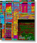 Psychadelic Architecture Metal Print by Andrew Fare