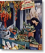 Public Market With Chilies Metal Print by Scott Nelson