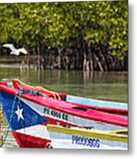 Puerto Rican Fishing Boats Metal Print by George Oze