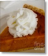 Pumpkin Pie Metal Print by Cheryl Young