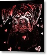 Puppy Love Metal Print by Maria Urso