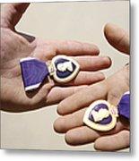 Purple Heart Recipients Display Metal Print by Stocktrek Images
