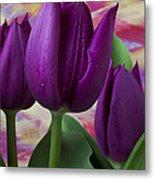 Purple Tulips Metal Print by Garry Gay