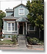 Quaint House Architecture - Benicia California - 5d18594 Metal Print by Wingsdomain Art and Photography