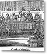 Quaker Marriage, 1842 Metal Print by Granger