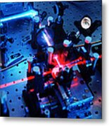 Quantum Cryptography Equipment Metal Print by Volker Steger