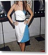 Rachel Bilson Wearing An Abaete Dress Metal Print by Everett