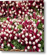 Radishes In A Basket Metal Print by Jane Rix
