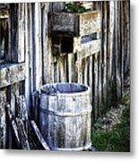Rain Barrel Geranium Metal Print by Melissa  Connors