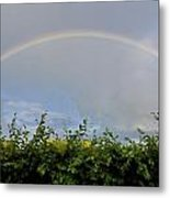 Rainbow In Warwick Metal Print by Vicki Jauron