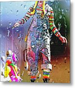 Rainy Day Clown 3 Metal Print by Steve Ohlsen