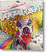 Rainy Day Clown Metal Print by Steve Ohlsen