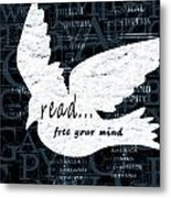 Read Free Your Mind Teal Metal Print by Angelina Vick