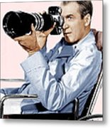 Rear Window, James Stewart, 1954 Metal Print by Everett