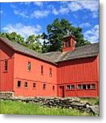 Red Barn At Bryant Homestead Metal Print by John Burk