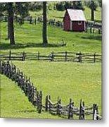 Red Barn On Highway 160 Near Pagosa Metal Print by Rich Reid