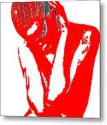 Red Drama Metal Print by Naxart Studio
