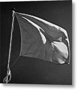 red flag flying marking the hanoverian english line Culloden moor battlefield site highlands scotl Metal Print by Joe Fox