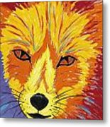 Red Fox Metal Print by Peggy Quinn