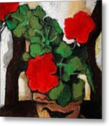 Red Geranium Metal Print by Mona Edulesco