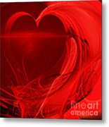 Red Love . Square . A120423.279 Metal Print by Wingsdomain Art and Photography