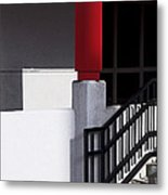 Red On Black Metal Print by Cheri Randolph