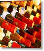 Red Or White Metal Print by Elaine Plesser