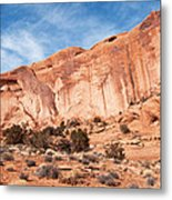 Red Rock And Blue Skies 2 Metal Print by Bob and Nancy Kendrick