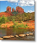 Red Rock Crossing Metal Print by Clare VanderVeen