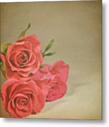 Red Roses Metal Print by Photo - Lyn Randle