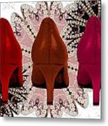 Red Shoes In Shades Of Red Metal Print by Maralaina Holliday