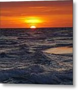 Red Skies At Night Metal Print by Charles Warren