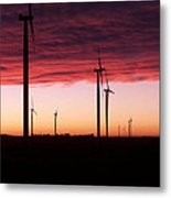 Red Skies Metal Print by Jim Finch