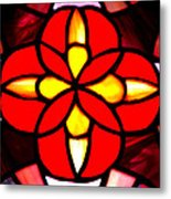 Red Stained Glass Metal Print by LeeAnn McLaneGoetz McLaneGoetzStudioLLCcom