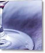 Red Wine Glass Metal Print by Frank Tschakert